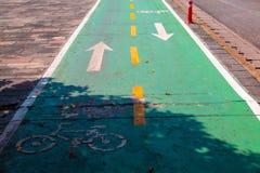 Текстура асфальта майны велосипеда Стоковая Фотография RF