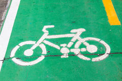 Текстура асфальта майны велосипеда Стоковые Фото