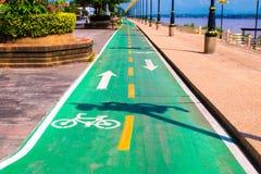 Текстура асфальта майны велосипеда Стоковая Фотография