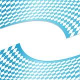 Текстура баварской предпосылки флага Предпосылка Oktoberfest с голубой белой checkered трехмерной картиной 2 вращая иллюстрация штока