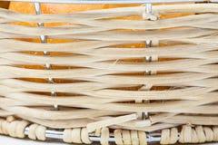 Текстура бамбуковой плетеной корзины Стоковое Фото