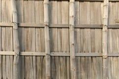 Текстура бамбуковой стены Стоковые Изображения