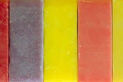 Текстура бара мыла с другим цветом Стоковая Фотография RF