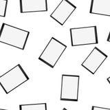 Текстура, безшовная картина умных современных умных планшетов сенсорного экрана с цифровое объемное реалистическим иллюстрация вектора
