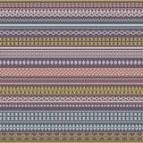 Текстура безшовного вектора племенная Винтажное этническое племенное безшовное Стоковая Фотография RF