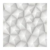 Текстура безшовного геометрического абстрактного вектора 3d белая с низким политиком Стоковая Фотография RF