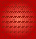 Текстура безшовного геометрического красного Wickerwork предпосылки сети картины декоративная бесконечная для ткани дизайна, упако Стоковое Фото