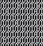 Текстура безшовного геометрического черно-белого Wickerwork предпосылки сети картины декоративная бесконечная для ткани дизайна Стоковые Фото