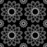Текстура безшовной орнаментальной черно-белой картины вектора бесконечная иллюстрация вектора