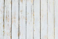 Текстура белизны покрасила доску, крупный план Вертикальные доски, корка Стоковое Изображение