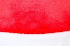 Текстура белого и красного меха Стоковое Фото