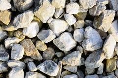 Текстура белых камешков известняка Утесистая предпосылка Стоковое Изображение RF