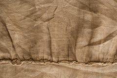 Текстура белья естественной ткани, бежевый цвет, unbleached материал для дизайна стоковые фотографии rf