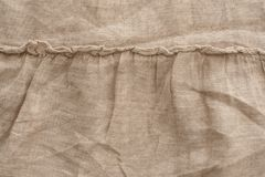 Текстура белья естественной ткани, бежевый цвет, unbleached материал для дизайна стоковое изображение rf