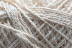 Текстура белого пасма шерстей Стоковые Фото