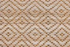 Текстура Брайна бамбуковая картины Weave корзины Стоковое Фото