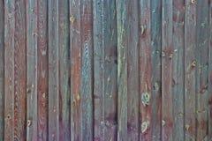 Текстура Брайна и загородки зеленого цвета деревянная Стоковые Изображения