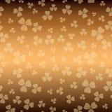 Текстура Брауна на день patricks - предпосылка вектора с shamrock бесплатная иллюстрация