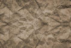 Текстура бумаги скомканной grunge для предпосылки Стоковое Изображение RF