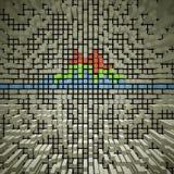 Текстура блоков на предпосылке цвета Стоковые Фотографии RF