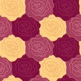 Текстура вектора безшовная роз Стоковое Изображение RF