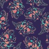 Текстура вектора безшовная с абстрактными цветками Бесконечная предпосылка Фон вектора яркая картина kground Стоковое фото RF
