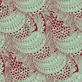 Текстура вектора безшовная с абстрактными цветками Стоковые Фотографии RF