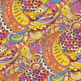 Текстура вектора безшовная с абстрактными цветками Стоковое Изображение RF