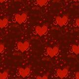 Текстура вектора безшовная с картиной сердец Валентайн дня s Любовь Оформление для дизайна ткани Стоковое Изображение