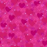 Текстура вектора безшовная с картиной сердец Валентайн дня s Любовь Оформление для дизайна ткани Стоковое Фото