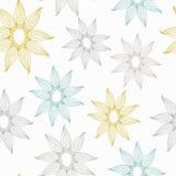 Текстура вектора безшовная с шнурком Картина с солнцецветом Составная безшовная картина весны Стоковые Фотографии RF
