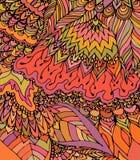 Текстура вектора с абстрактными цветками Шаблон лета или осени Стоковые Фото