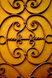 Текстура двери золота Стоковое Изображение RF