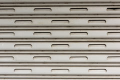Текстура двери штарки завальцовки Стоковое Фото