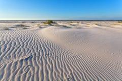 Текстура ветра на песчанной дюне Стоковая Фотография