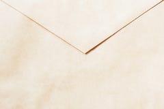 Текстура винтажного бумажного конверта, задней стороны Взгляд сверху Предпосылка, фон, субстрат, польза состава для дизайна Стоковое Фото