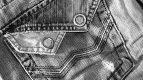 Текстура винтажной предпосылки голубых джинсов, сорванных джинсов Стоковая Фотография