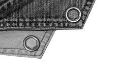 Текстура винтажной предпосылки голубых джинсов, сорванных джинсов Стоковая Фотография RF
