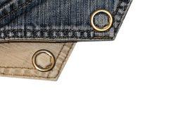 Текстура винтажной предпосылки голубых джинсов, сорванных джинсов Стоковые Изображения