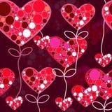 текстура влюбленности безшовная Стоковые Изображения