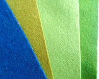 Текстура войлокования голубая бежевая зеленая шерстяная стоковая фотография rf