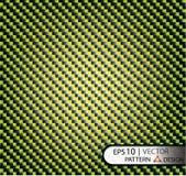 Текстура волокна углерода с яркими желтыми венками под маской Стоковая Фотография