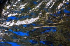 Текстура воды поверхностная отражает, предпосылка Стоковое Изображение