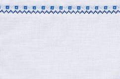Текстура вышивки для предпосылки Стоковые Фотографии RF