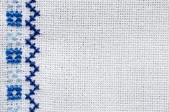 Текстура вышивки Перекрестный стежок Стоковые Фото