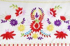 Текстура вышитой ткани стоковое фото