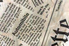 Текстура газеты Винтажная предпосылка газеты стоковое изображение