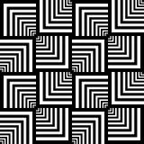 текстура геометрической op картины искусства безшовная Стоковые Фото