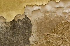 Текстура гипсолита стены старого теплого тона Стоковая Фотография RF
