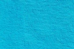 Текстура голубой ворсистой ткани стоковые изображения rf